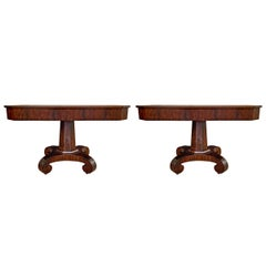 Gorgeous Pair of American Empire Console Tables