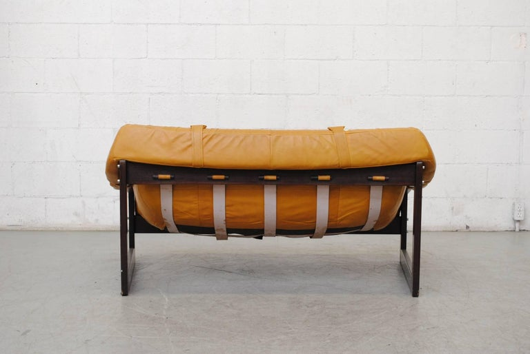Leather Gorgeous Percival Lafer Loveseat For Sale