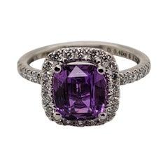 Gorgeous Platinum 2.11 Carat Pink Sapphire Ring