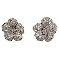 Gorgeous Platinum 4.11 Carat Diamond Earrings