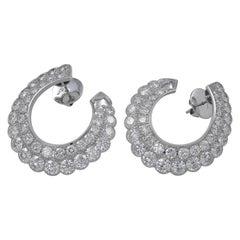 Gorgeous Platinum Diamond Earrings