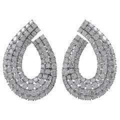 Gorgeous Platinum Diamonds Earrings
