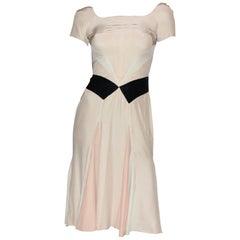 Gorgeous Prada Pleated Silk & Velvet Cocktail Dress