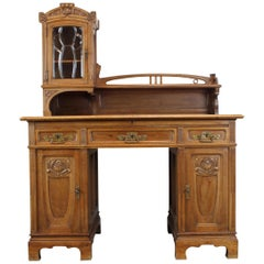 Gorgeous Rare Antique Jugendstil Art Nouveau Writing Desk, 1890