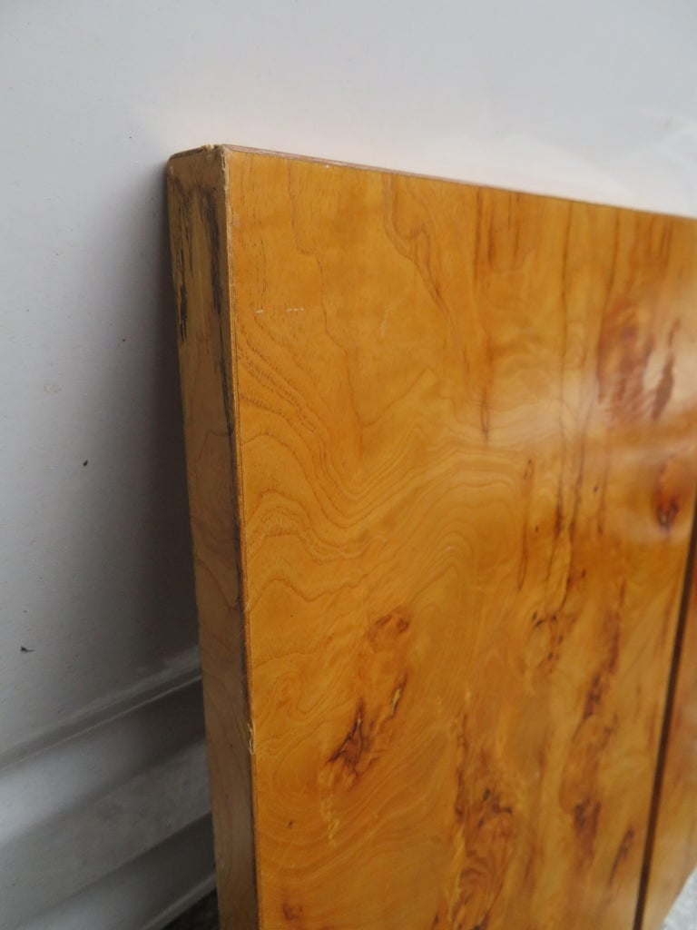 Gorgeous Roland Carter for Lane Olive Wood Queen Size Headboard Midcentury For Sale 3