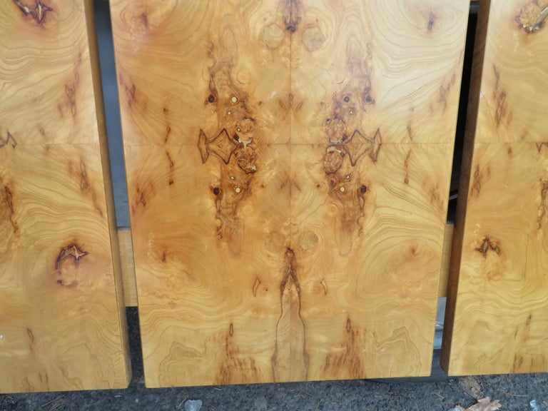Gorgeous Roland Carter for Lane Olive Wood Queen Size Headboard Midcentury For Sale 4