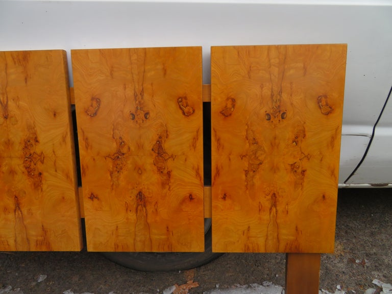 Mid-Century Modern Gorgeous Roland Carter for Lane Olive Wood Queen Size Headboard Midcentury For Sale