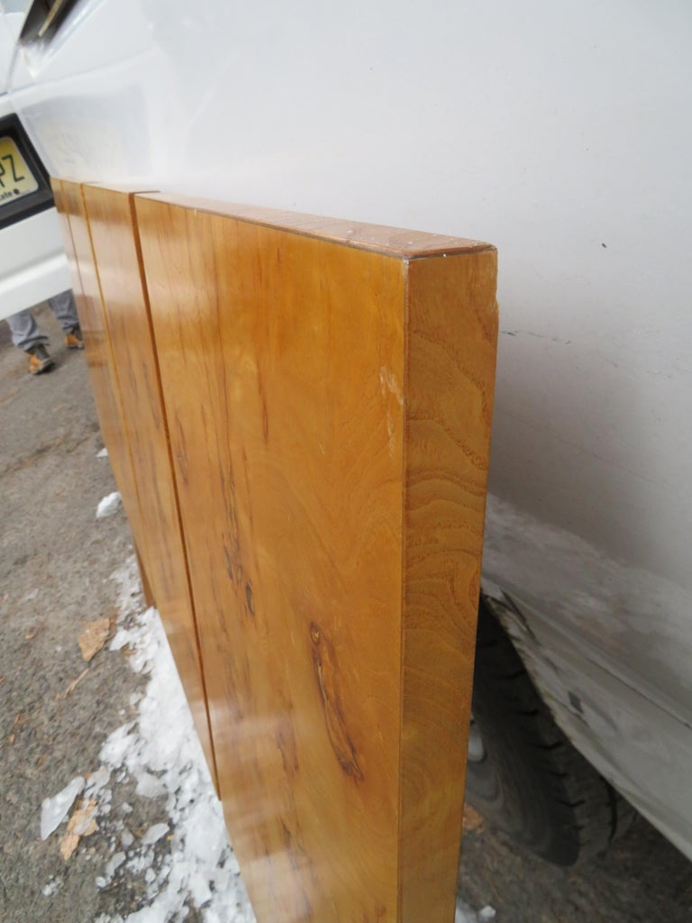 Mid-20th Century Gorgeous Roland Carter for Lane Olive Wood Queen Size Headboard Midcentury For Sale