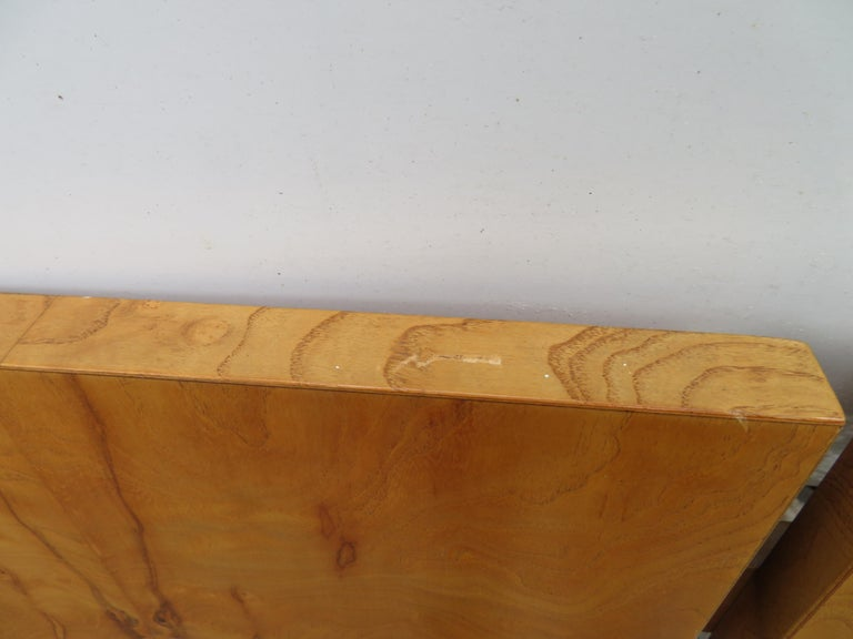 Burl Gorgeous Roland Carter for Lane Olive Wood Queen Size Headboard Midcentury For Sale