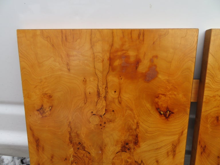 Gorgeous Roland Carter for Lane Olive Wood Queen Size Headboard Midcentury For Sale 2
