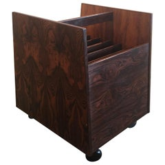 Gorgeous Rosewood Record / Magazine Holder by Rolf Hesland for Bruksbo of Norway