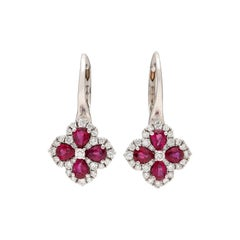 Gorgeous Ruby and Diamond Drop Earrings
