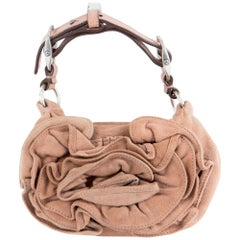 Gorgeous Saint Laurent Camel Flower Nadja Evening Bag by Tom Ford