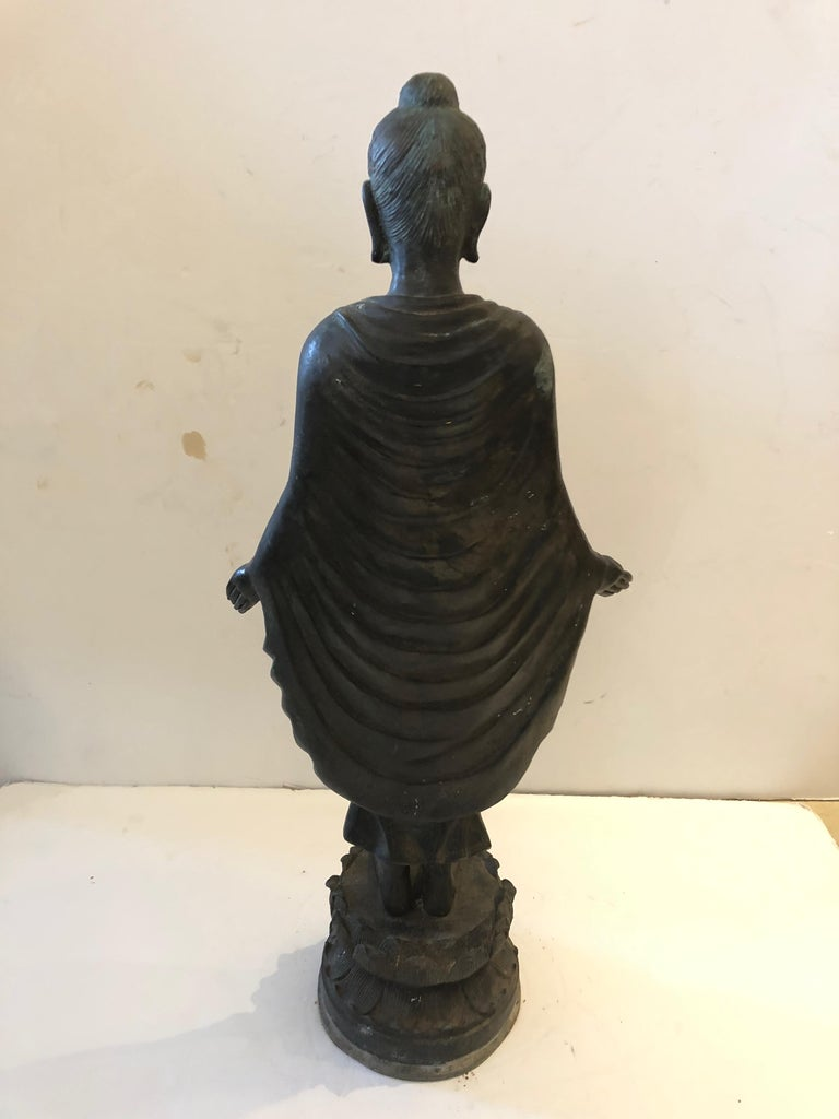 Gorgeous Thai Buddha Bronze Statue For Sale 2
