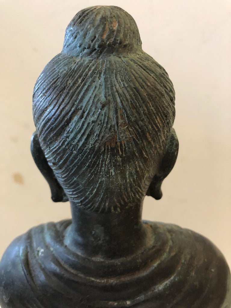 Gorgeous Thai Buddha Bronze Statue For Sale 5