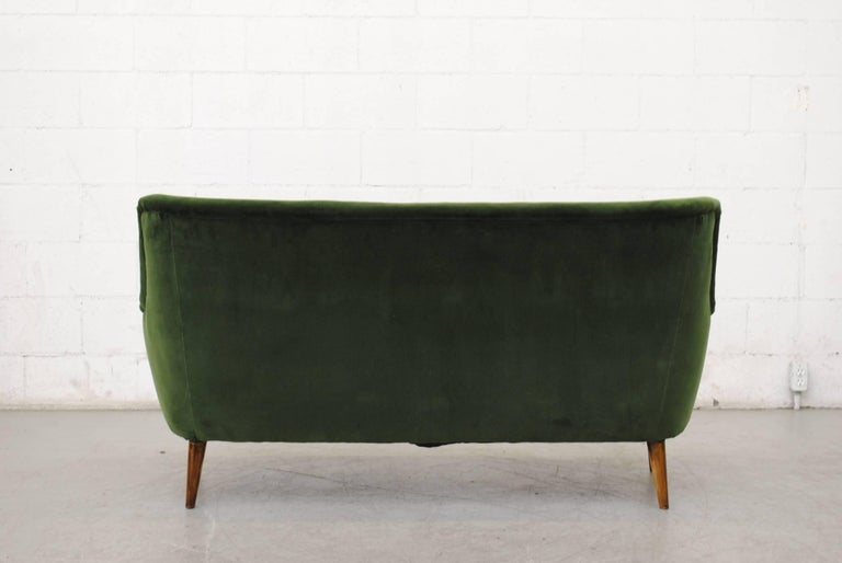 Gorgeous Theo Ruth Emerald Green Velvet Sofa For 1