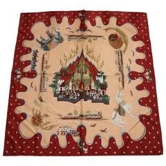 Gorgeous Vintage Asian Thai Silk Scarf