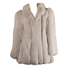 Gorgeous Vintage Chubby Arctic Fox Fur Coat/ Jacket