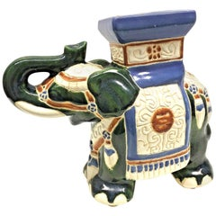 Gorgeous Vintage Hollywood Regency Chinese Elephant Garden Flower Pot Stand