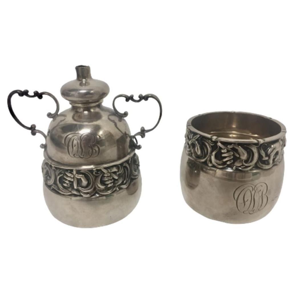 Gorham 1918 Sterling Silver Cigar Set