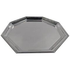 Gorham American Art Deco Geometric Sterling Silver Tray