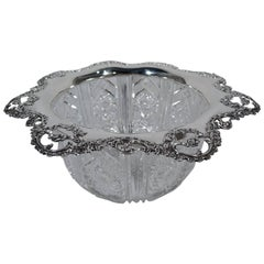 Gorham American Brilliant-Cut Glass Sterling Silver Centrepiece Bowl