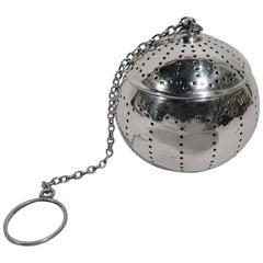 Gorham American Modern Sterling Silver Tea Ball