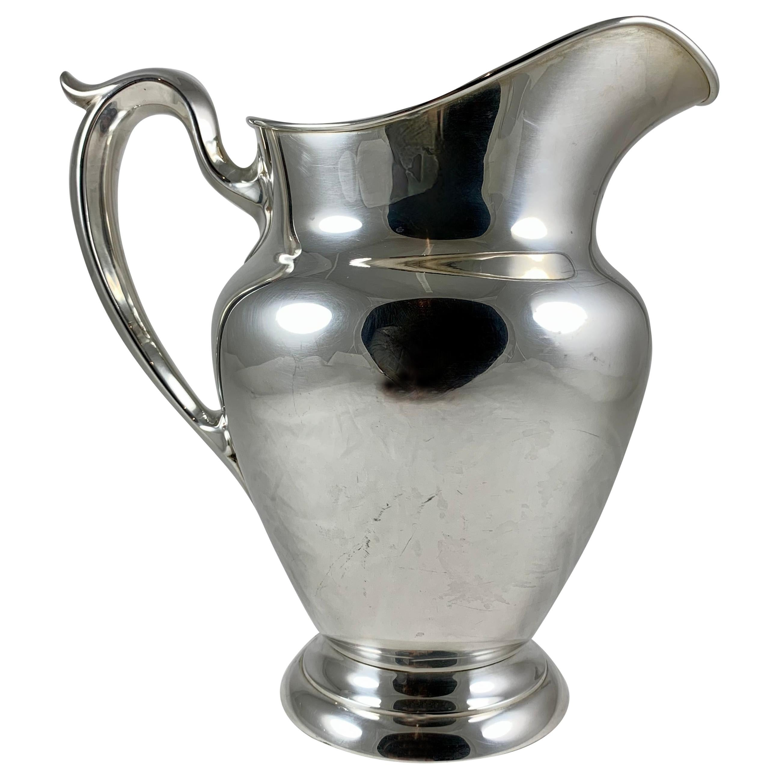 Gorham American Sterling Silver Large Water Pitcher, Dated 1948