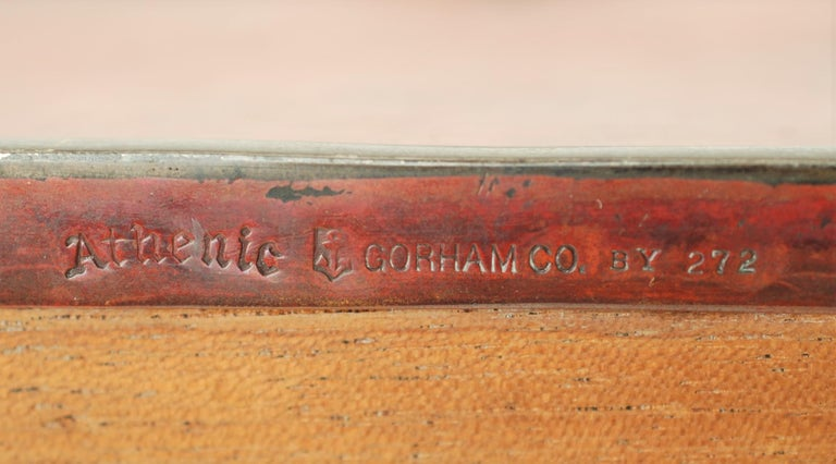 Gorham Athenic Cigar Box with Cecil Aldin Enameled Plaque and Silver Decoration For Sale 10