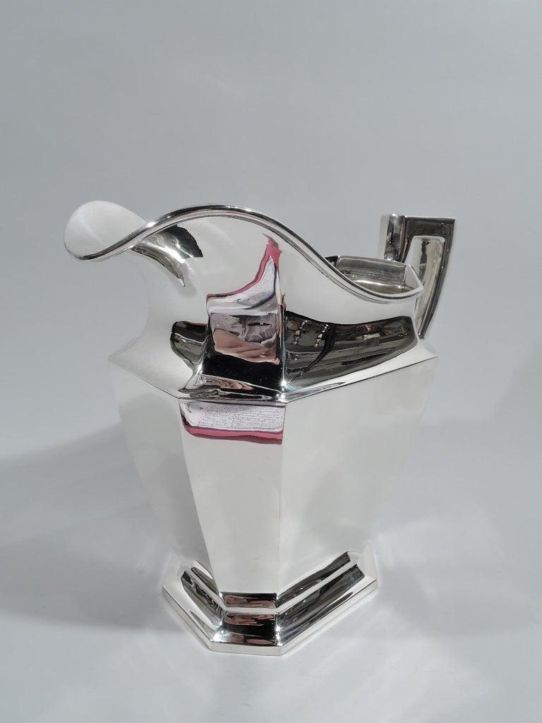 North American Gorham Fairfax Art Deco Sterling Silver Water Pitcher