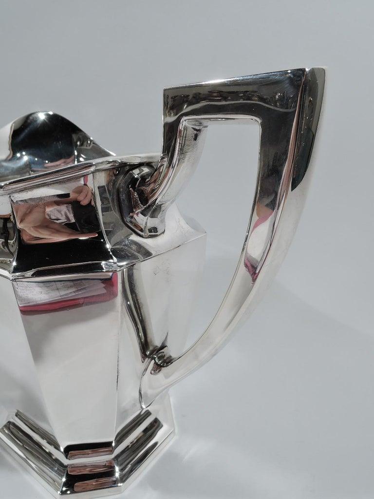 20th Century Gorham Fairfax Art Deco Sterling Silver Water Pitcher