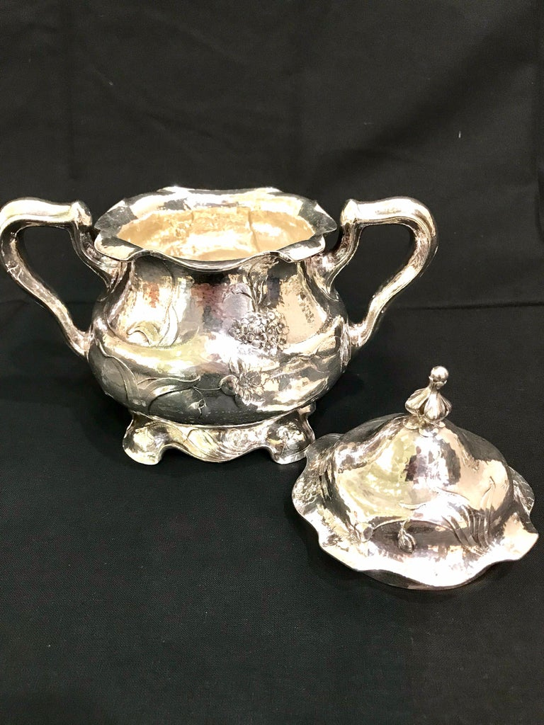 Martele by Gorham Silver Six Piece Coffee and Tea Service with Tray 1905-1907 For Sale 7