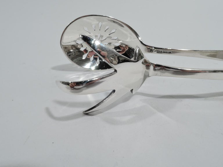 American Gorham Mid-Century Modern Sterling Silver Ice Tongs For Sale
