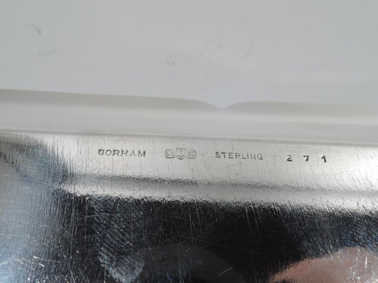 Gorham Mid-Century Modern Sterling Silver Mixed Drinks Bar Tray For Sale 4