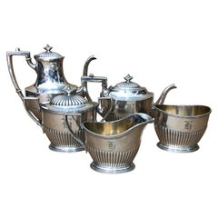 Gorham N.Y. High Quality Silver Plated 5 Pieces Tea Set Made in U.S. in 1900