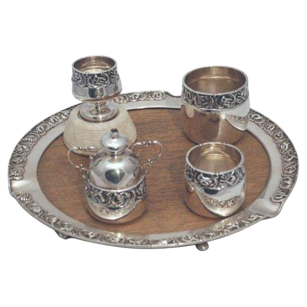 Gorham Rare Sterling Silver Smoking Set