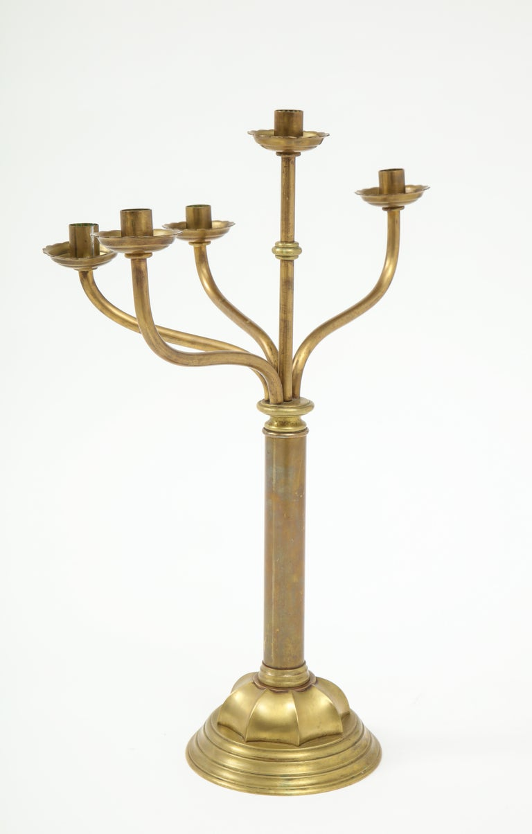Gorham Solid Brass Antique Candlesticks For Sale 6