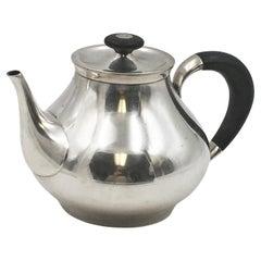 Gorham Sterling Silver 1956 Tea Pot in Mid-Century Modern Style