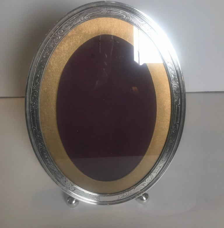 Gorham Sterling Silver Oval Picture Frame For Sale 4