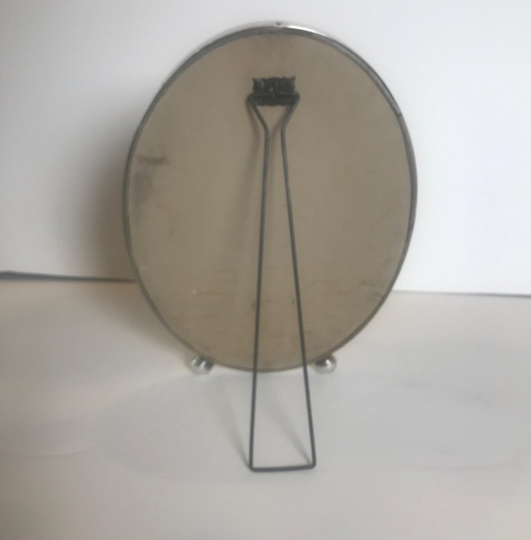 Gorham Sterling Silver Oval Picture Frame In Good Condition For Sale In Lambertville, NJ