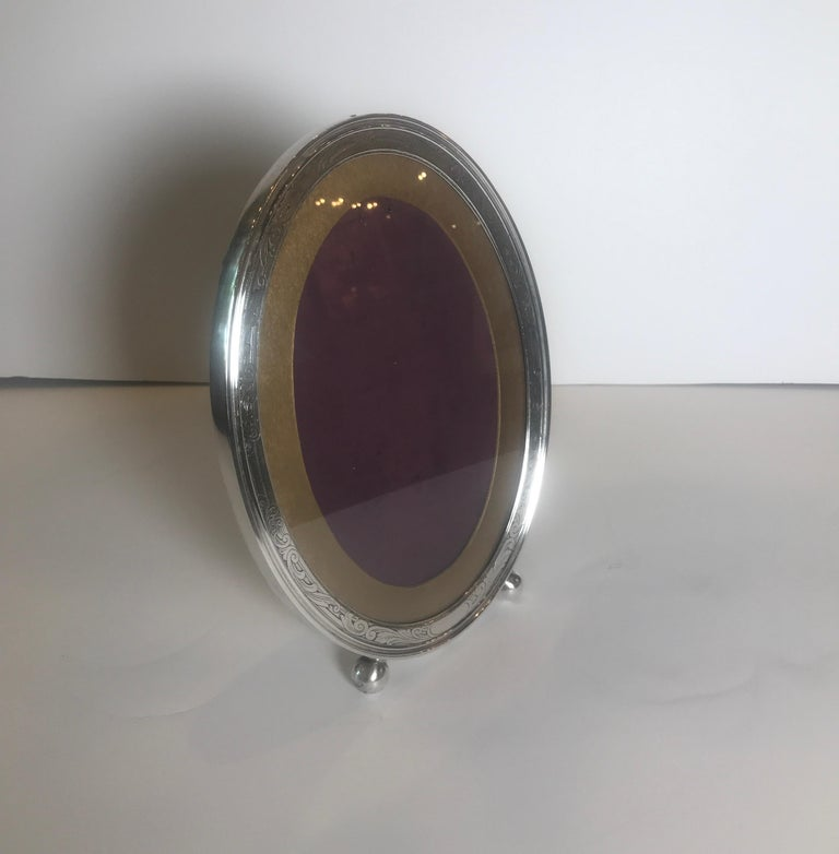Gorham Sterling Silver Oval Picture Frame For Sale 1