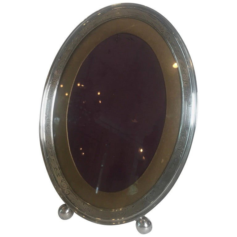 Gorham Sterling Silver Oval Picture Frame For Sale