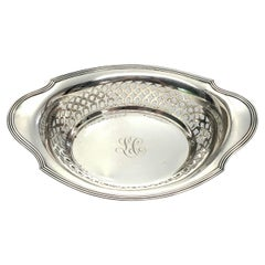 Gorham Sterling Silver Plymouth Open Work Bowl with Monogram