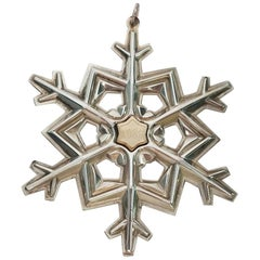 Gorham Sterling Silver Two-Tone Snowflake Ornament, 1989
