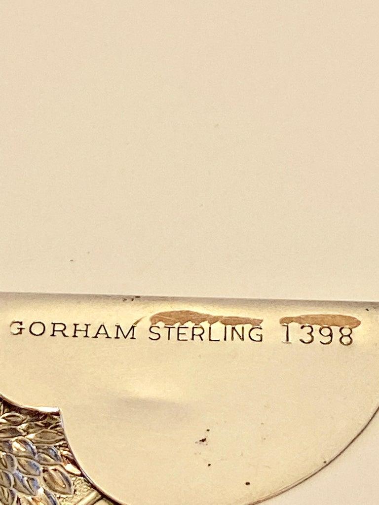 Gorham Victorian Sterling Silver Detailed Bursting Floral Bookmark For Sale 1