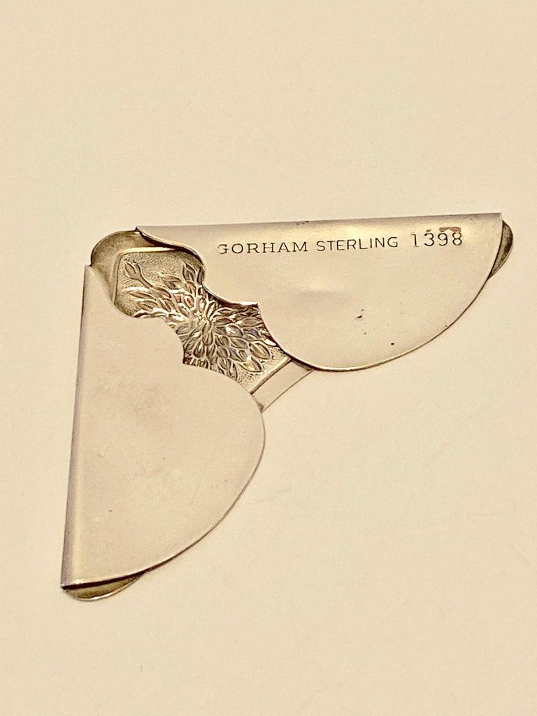 Gorham Victorian Sterling Silver Detailed Bursting Floral Bookmark For Sale 2