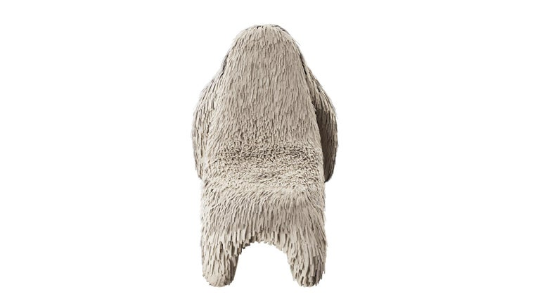 Modern Gorilla Chair with Real Off White Leather by Marcantonio For Sale