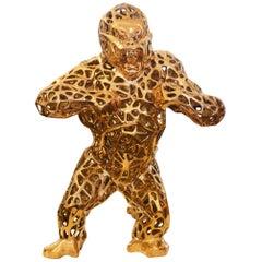 Gorilla Kong Sculpture in Solid Bronze Orlinski