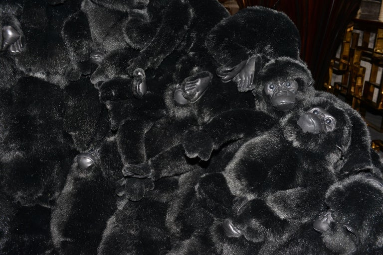 Gorillas Armchair Swivel in Limited Edition For Sale 4