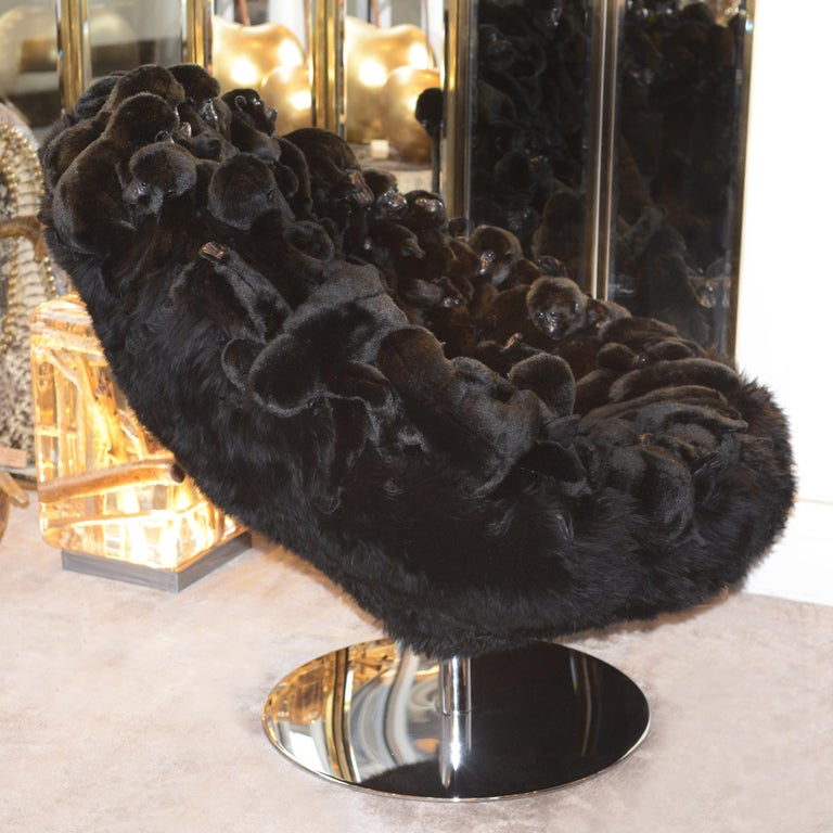 Gorillas Armchair Swivel in Limited Edition In New Condition For Sale In Paris, FR